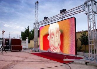 China P10 Outdoor Rental Stage LED Screen AC110V / 220V Power Input High Frequency supplier