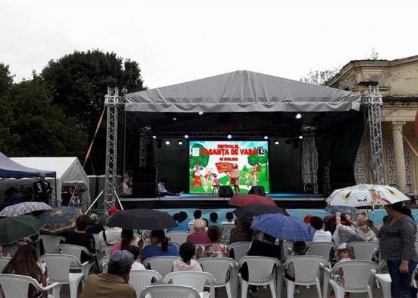 Exterior Waterproof Stage LED Screen 500*500mm Cabinet Size Easy Installation