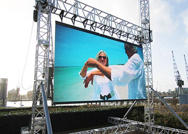 Light Aluminum Outdoor Rental LED Display Pixel Pitch 6.25mm Full Color
